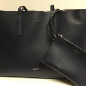 Kate Spade Navy Blue Tote Bag